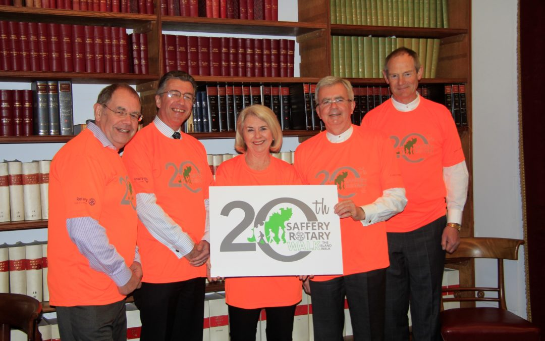 Jurats swap the court room for cliff paths to tackle the 20th Saffery Rotary Walk